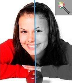 Programa online que muestra tu imagen en escala de grises. Se puede usar con las fotos de color para pasarlas a blanco y negro.