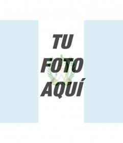 Fotomontaje con la bandera de guatemala, en el que podrás poner la imagen de la bandera de Guatemala en tu foto.