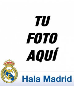 Escudo y texto de Hala Madrid para ponerlo en tu foto de perfil junto con el escudo del Real Madrid