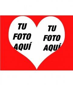 Foto efecto para poner dos fotos dentro de un corazón