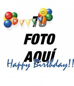 Montaje fotográfico para fotos de fiestas de cumpleaños o para felicitaciones en estos.