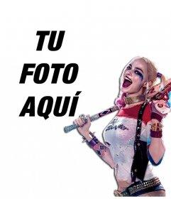 Fotomontaje para poner tu foto junto a la villana Harley Quinn