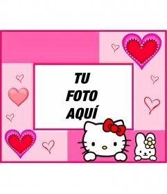 Marco y fotomontajes para fotos de Hello Kitty