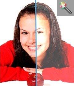 Filtro para iluminar fotos online especial para fotos oscuras