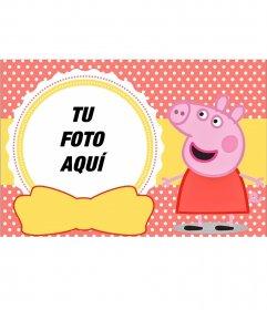 Collage infantil de Peppa Pig