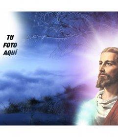Montaje para fotos con Jesucristo en el que puedes poner tu foto.