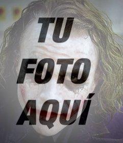 FIltro para poner la cara del Guason encima de tus imágenes online