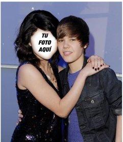 Fotomontaje de Justin Bieber con una chica.