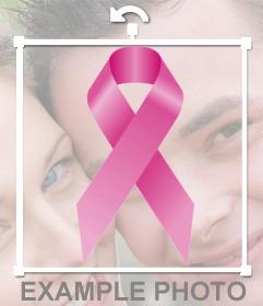 Lazo contra el cáncer para poner en tu foto de perfil online