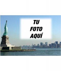 Postal con tu foto de la ciudad de New York de fondo que puedes hacer con tus fotos