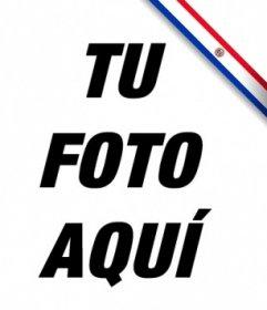Listón de la bandera de Paraguay para poner en tu foto de perfil