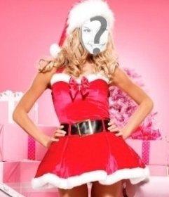 Fotomontaje de Mama Noel para hacer online. Ideal para felicitación de Navidad.