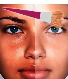 Efecto online de maquillaje virtual para tu foto que hará que salgas mucho más guapa