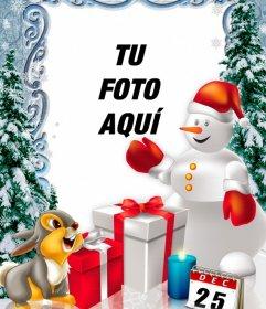 Fotomontaje del día de Navidad para personalizar con fotos.