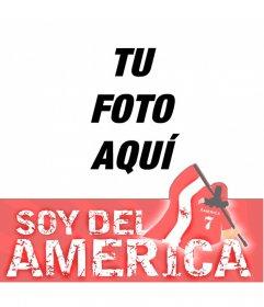 Marco fotográfico del América Cali para tu foto de perfil