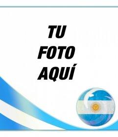 Marco de fotos con la bandera de argentina para poner una foto tuya