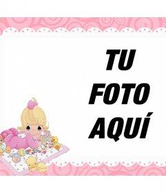 Marco decorativo para las fotos de tu bebé y que puedes imprimir