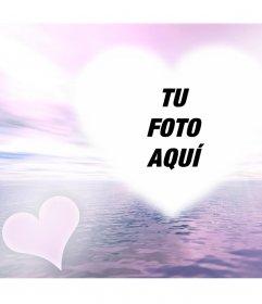 Foto efecto de amor con un resplandor para añadir tu foto online