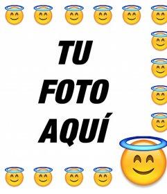 Marco para tu foto del emoticono de Santo de Whatsapp