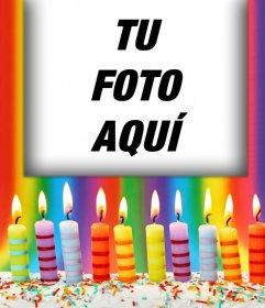 Fotomontaje Con Velas De Cumplea 241 Os Para Tu Foto Fotoefectos