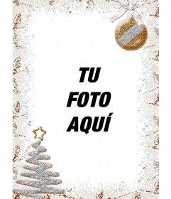 Decoración para fotos verticales de Navidad con un árbol