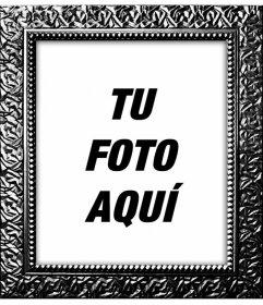 Marco para fotos digitales negro plateado con textura de - Cuadros para decorar fotos gratis ...