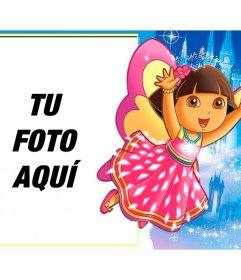 Marco infantil para poner tu foto con Dora la exploradora