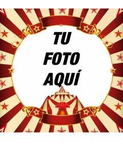 Enmarcar tu foto con una carpa de circo online fotoefectos for Enmarcar fotos online