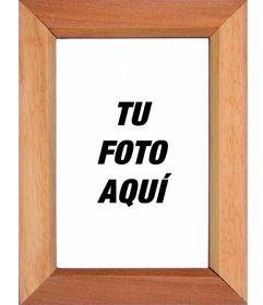 Marco para fotos estilo madera para poner una foto fotoefectos - Marcos para cuadros grandes ...