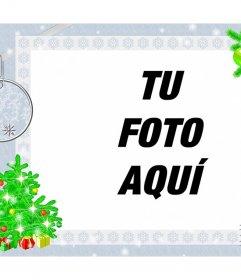 Marco para fotos con diseño navideño para decorar online