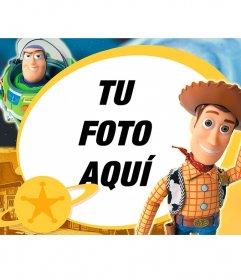 Marco infantil de Toy Story con los dos personajes principales de la película.