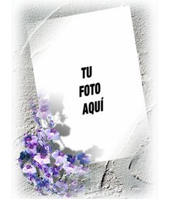 Marco para una foto con borde de flores que podrás hacer online y gratis