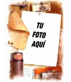 Marco para fotos estilo vintage cl sico pon tu foto de - Marcos vintage para fotos ...