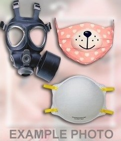 Sticker online de una mascara de gas para insertar en tus fotos