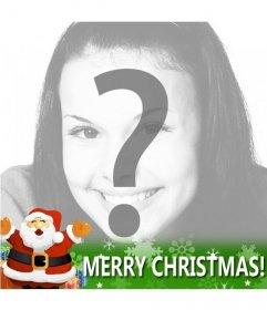 Felicitación navideña especial para poner de perfil en Facebook con Santa Claus y la frase Merry Christmas