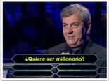 Fotomontaje del programa de ¿Quién quiere ser millonario?, programa de televisión. Puedes editar la pregunta, las cuatro respuestas y marcar cual es la correcta.