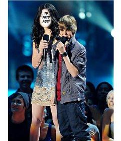 Fotomontaje para hacer online de Miranda Cosgrove con Justin Bieber
