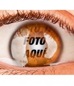 Fotomontaje para poner una foto como si estuvieras dentro de un ojo.