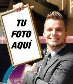 Montaje con Ricky Martin para aparecer en su cuadro