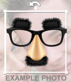 Sticker con las gafas bigote y cejas de Groucho Marx