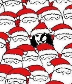 Fotomontaje para encontrar al Papa Noel infiltrado dentro de la foto