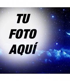 Noche de estrellas con luna para ponerle a tu foto como filtro online