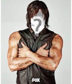 Fotomontaje para poner tu cara en Daryl Dixon de Thewalking Dead