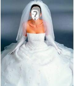 Disfrázate de novia con este fotomontaje. De blanco.