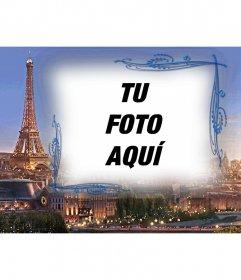 Marco para fotos con París de fondo, la ciudad del amor para hacer con una foto.