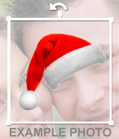 Poner un gorro de Papá Noel en tu foto online.