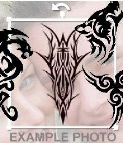Pegatina de tatuaje tribal para poner en tus fotos online