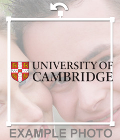 Sticker con el logo de la Universidad de Cambridge
