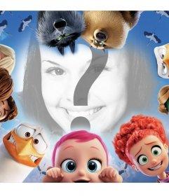 Rodea tu foto con los personajes de la película infantil CIGUEÑAS