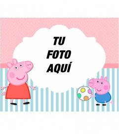 Marco para fotos infantil de Peppa Pig